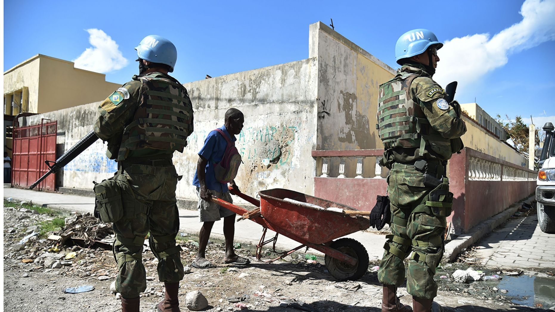A study claims that UN peacekeepers fathered children with woman and girls in Haiti before abandoning them.