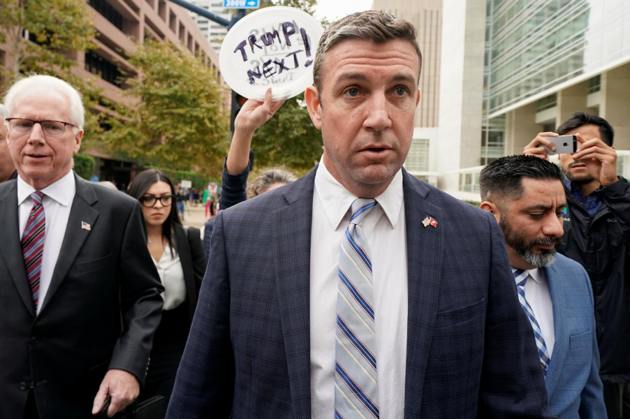 U.S. Representative Duncan Hunter leaves federal court after pleading guilty to missusing campaign funds, in San Diego, California, U.S., December 3, 2019.