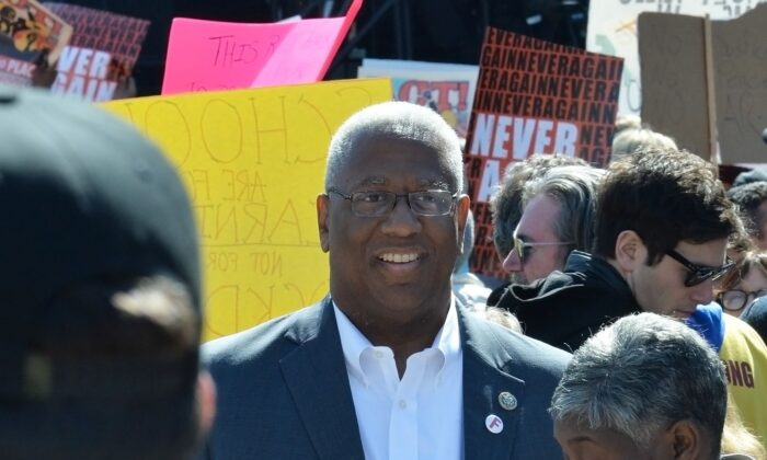 Rep. Donald McEachin (D-Va.) attends the March for Our Lives Rally in Washington on March 24, 2018.