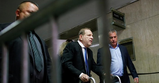 Film producer Harvey Weinstein exits the courtroom at the New York Supreme Court in New York, U.S., December 11, 2019.