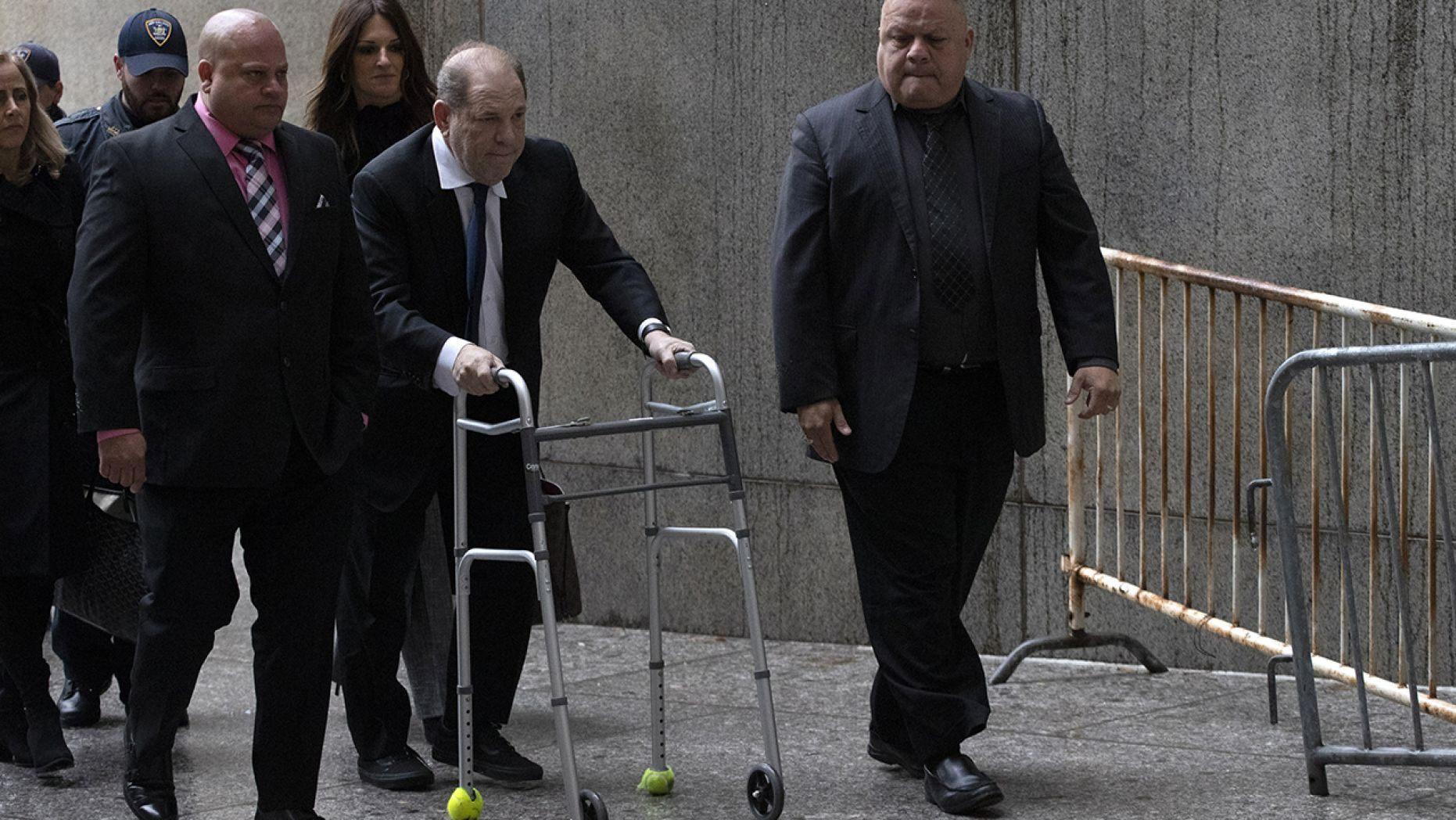 Harvey Weinstein, center, arrives for a court hearing, Wednesday, Dec. 11, 2019 in New York.