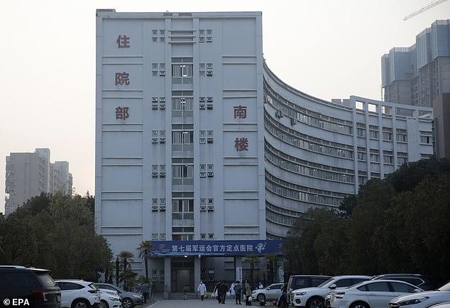 The government of Wuhan has ordered a state-run construction company to design and build the emergency facility in the Caidian District, according to Chinese media. The above picture shows the south wing of the Wuhan Medical Treatment Center, also known as the Jinyintan hospital, where patients infected with a new strain of Coronavirus are currently treated