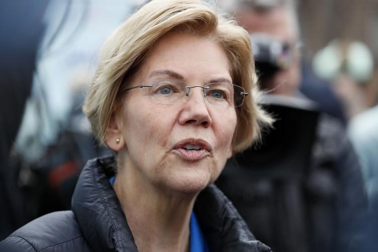 Democratic presidential candidate Sen. Elizabeth Warren  Charlie Neibergall / AP