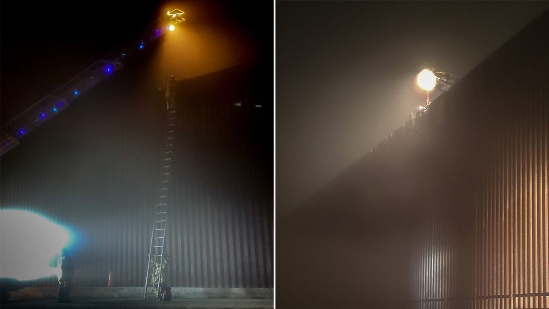 Three people were stuck on top of the new border wall around midnight on Sunday in San Diego.