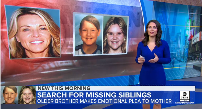 Son begs mom of missing siblings to come home