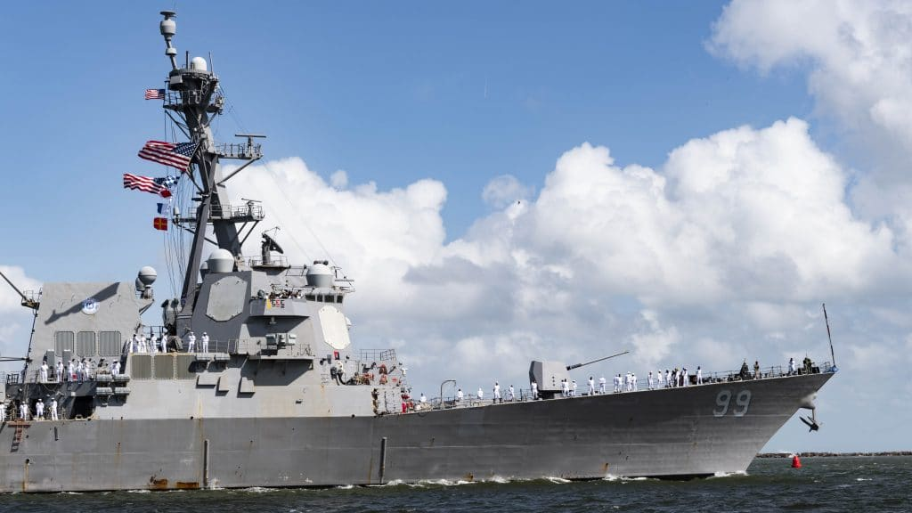 Lockheed Martin in Salina, N.Y., will build sonar systems that will help Navy ships like the Arleigh Burke-class guided-missile destroyer USS Farragut detect enemy submarines.