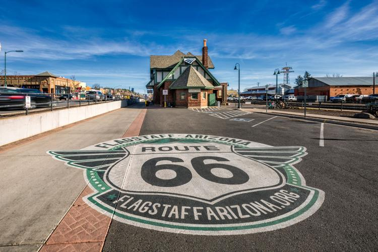 Route 66 in Flagstaff, Arizona  Ruslan Kalnitsky / Shutterstock.com