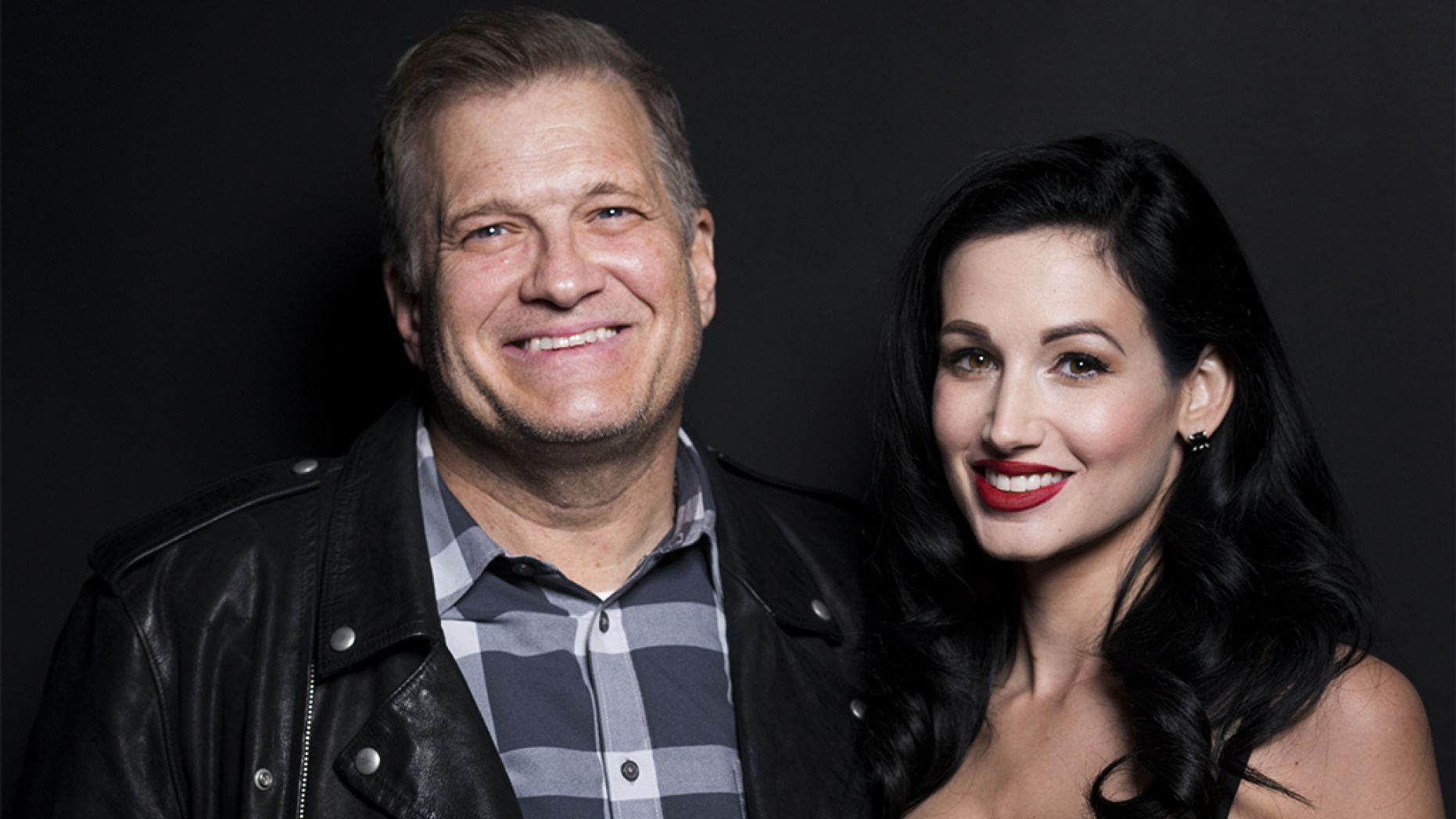 Dr. Amie Harwick, seen here with Drew Carey in December 2017, was murdered in Los Angeles over the weekend, police said.