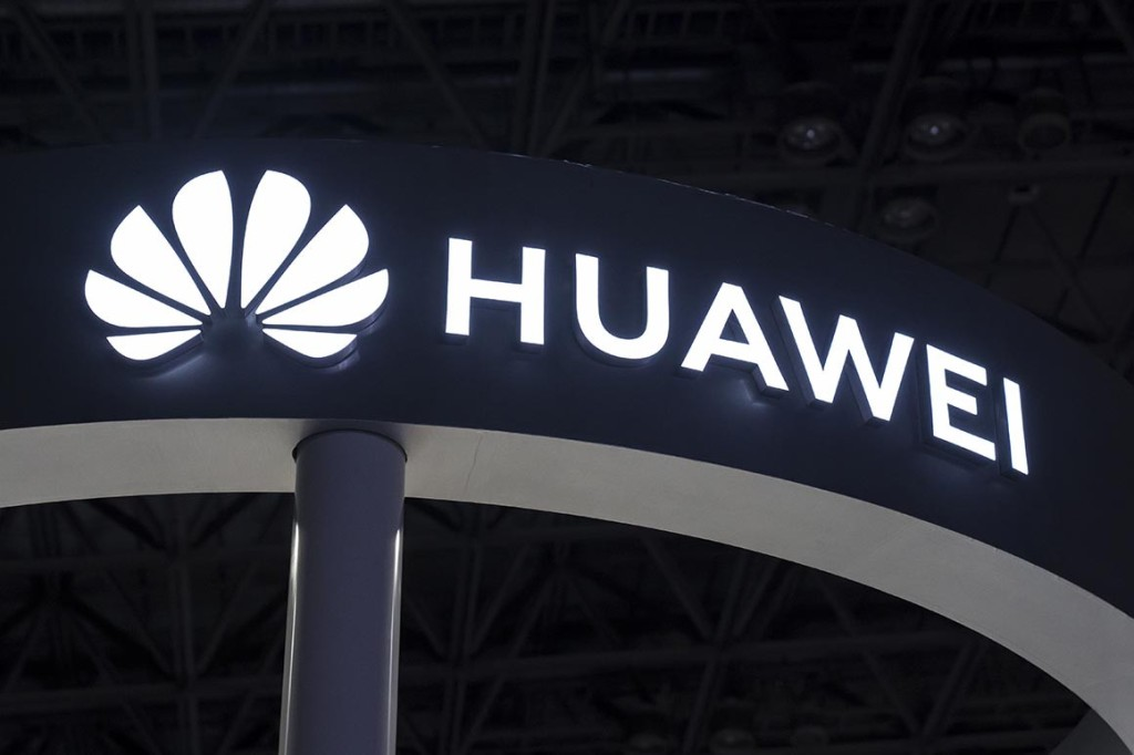 The Huawei Technologies Co. logo. | Tomohiro Ohsumi/Getty Images