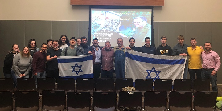 Former IDF officer Eyal Dror during a speaking tour of California universities in February 2020. Photo: Students Supporting Israel.