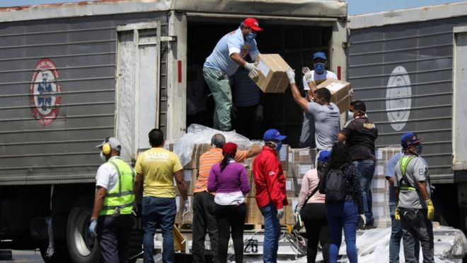 China has been sending aid to help Venezuela deal with the outbreak