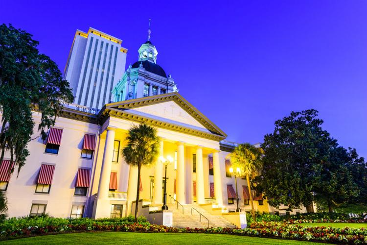 The Florida State Capitol buildings (Old Capitol in foreground) in Tallahassee, Florida.    Shutterstock photo