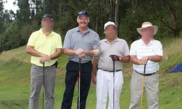 Royce Phillips, second from left, playing golf at the air force's country club in Quito, Ecuador. Photograph: Handout