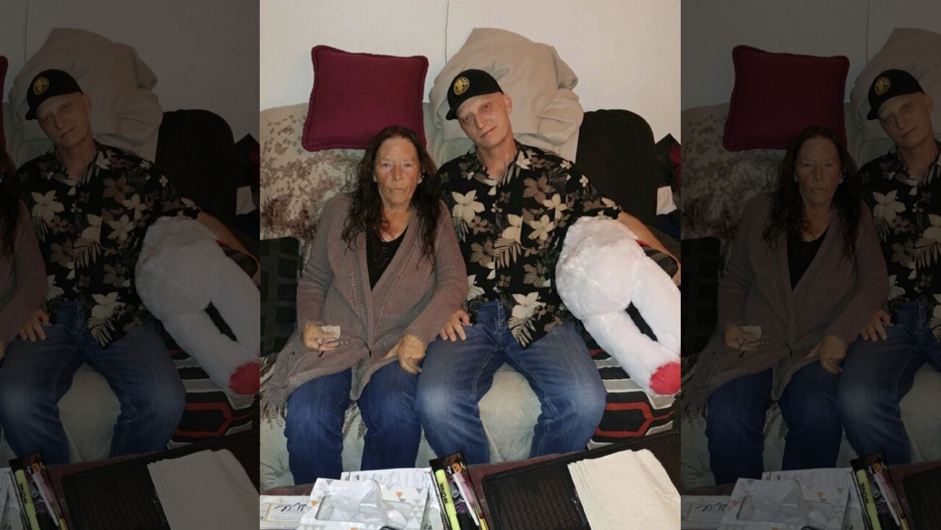 White is seen with his mother, Joanne White, in a photo released by his laywer Mark Zaid. (