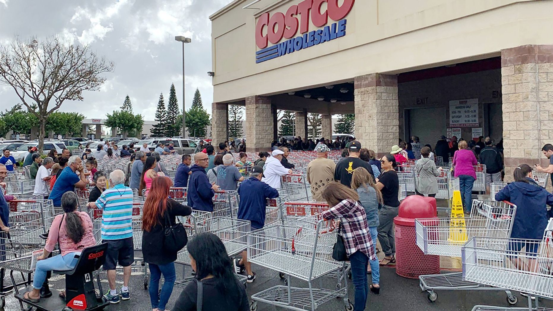 Around 11:45 a.m. at a Costco in Brooklyn, two customers got into a heated argument while standing in line.
