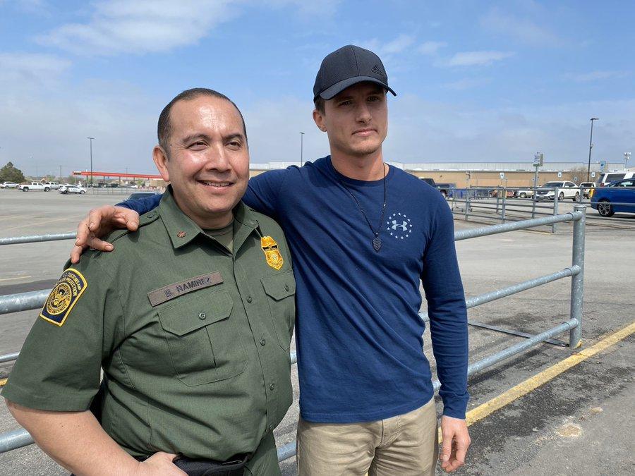 BP Agent Bernie Ramirez reunites w/ Sam's Club employee Zach Owen days after both intervened during a stabbing incident