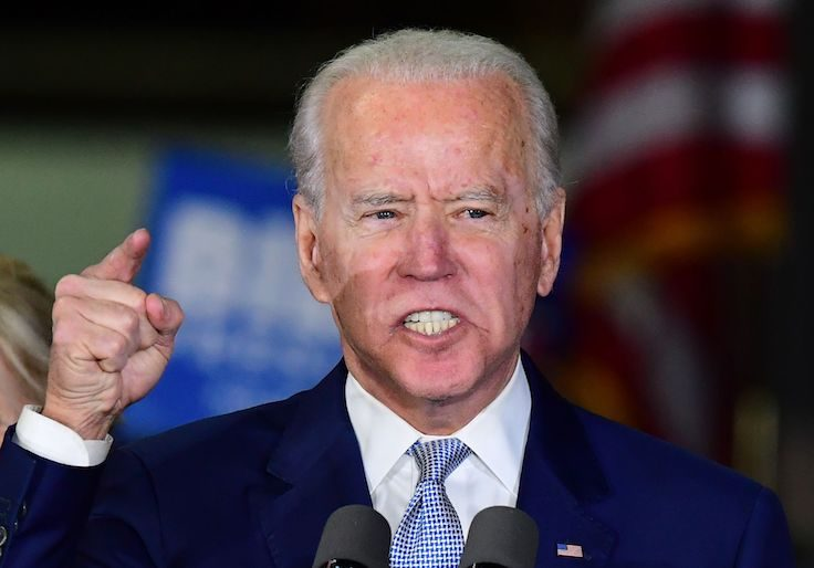Democratic presidential hopeful Joe Biden / Getty Images