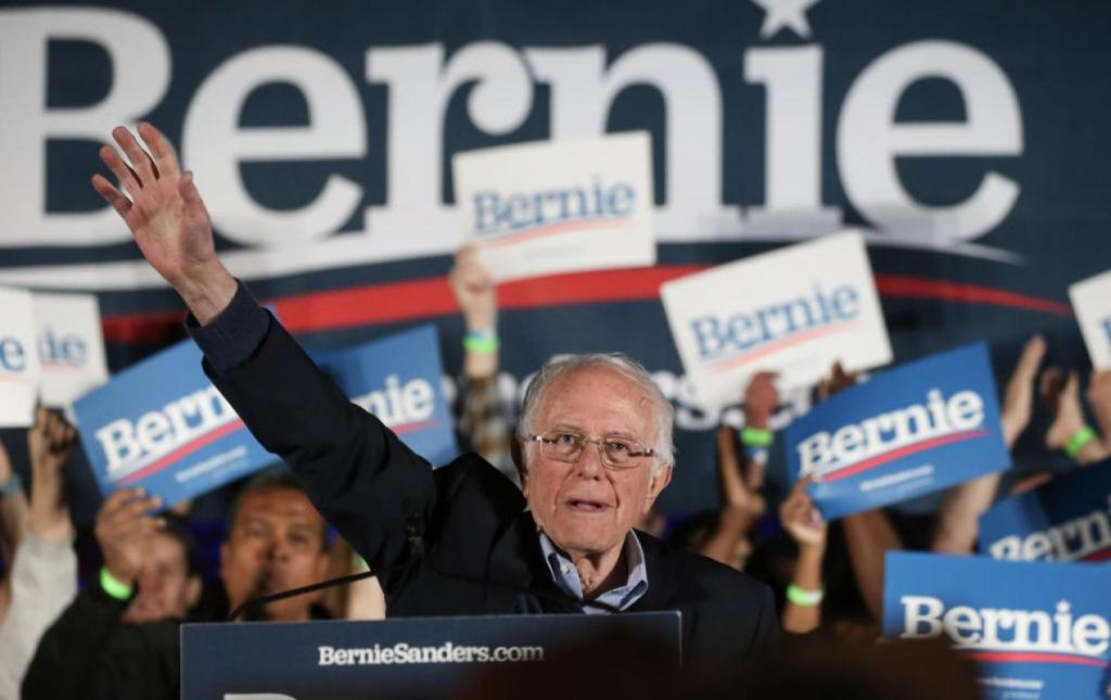 Bernie Sanders celebrates after winning Nevada caucuses (Getty Images)