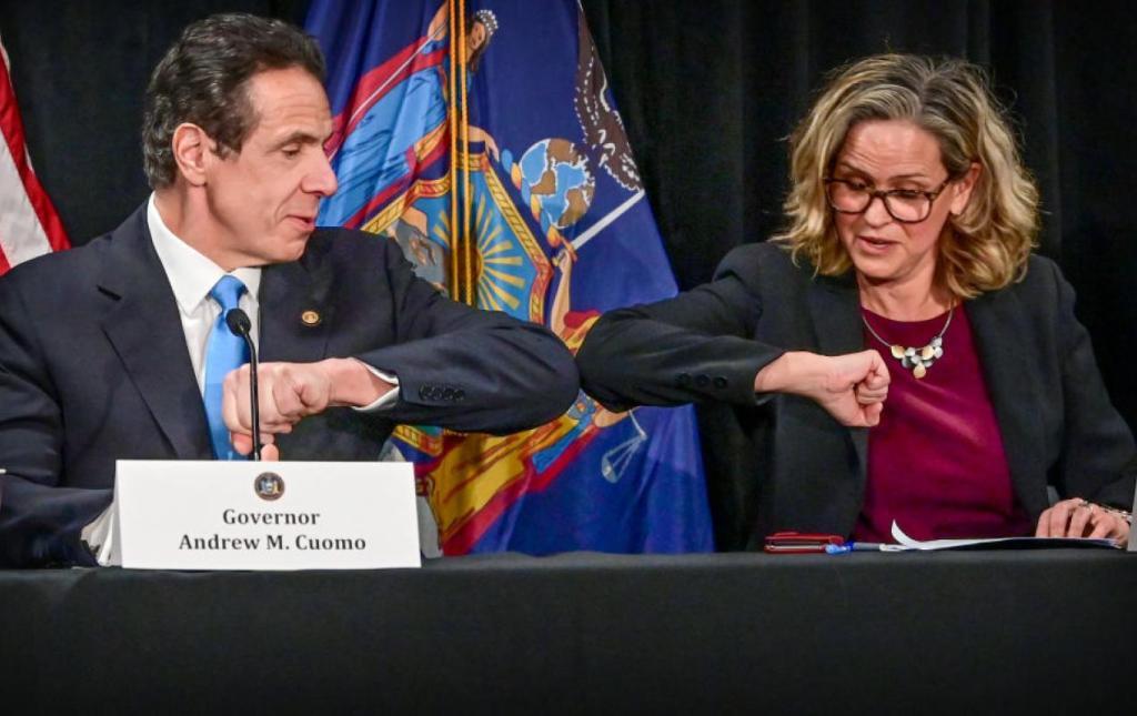 Governor Andrew Cuomo at a coronavirus briefing (Newsday LLC / Getty Images)