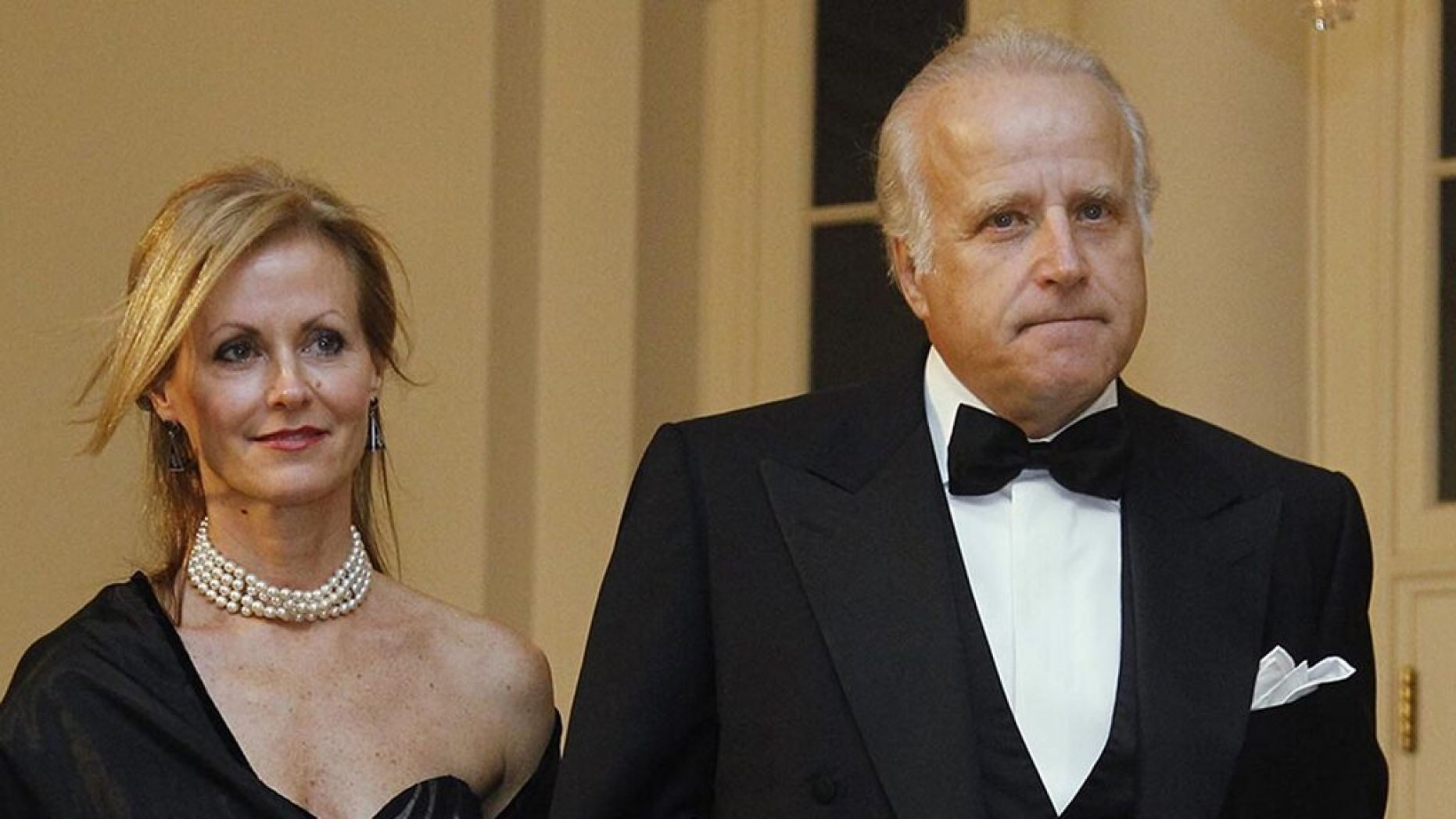 James and Sara Biden arrive at the White House to attend the State Dinner for South Korea, Oct. 13, 2011, in Washington.