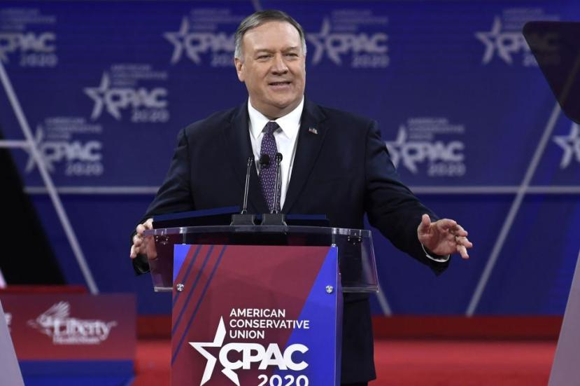 Secretary of State Mike Pompeo, shown at the Conservative Political Action Conference last month,
