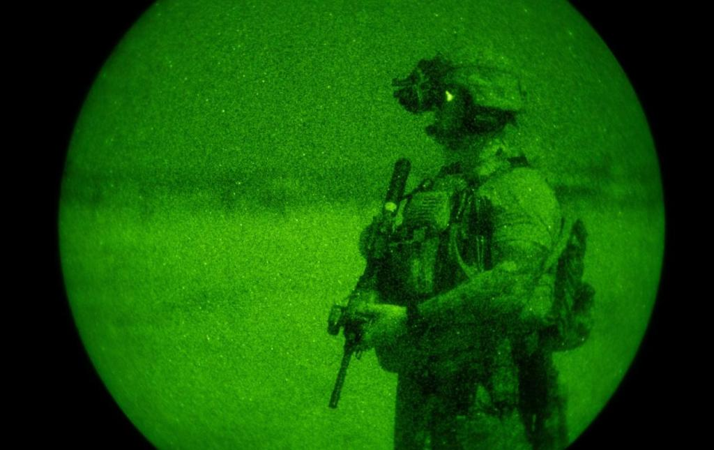 A U.S. solider in Somalia in February 2020 (Tech. Sgt. Christopher Ruano/ U.S. Air Force)