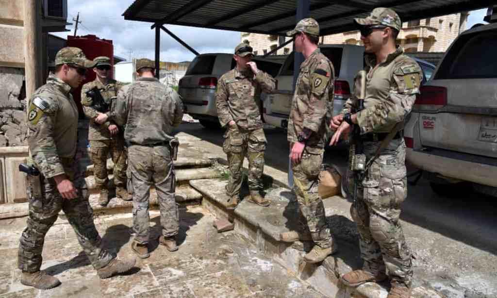 US troops in Iraq. Photograph: Ammar Salih/EPA