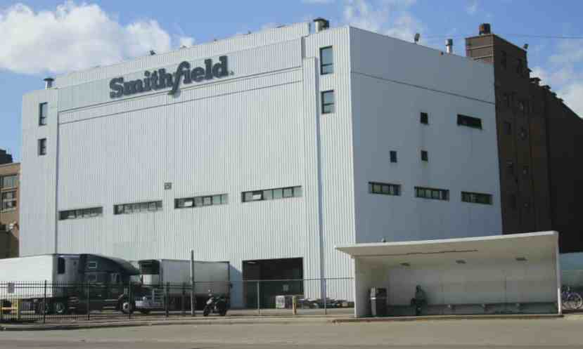 The Smithfield pork processing plant in Sioux Falls, South Dakota,