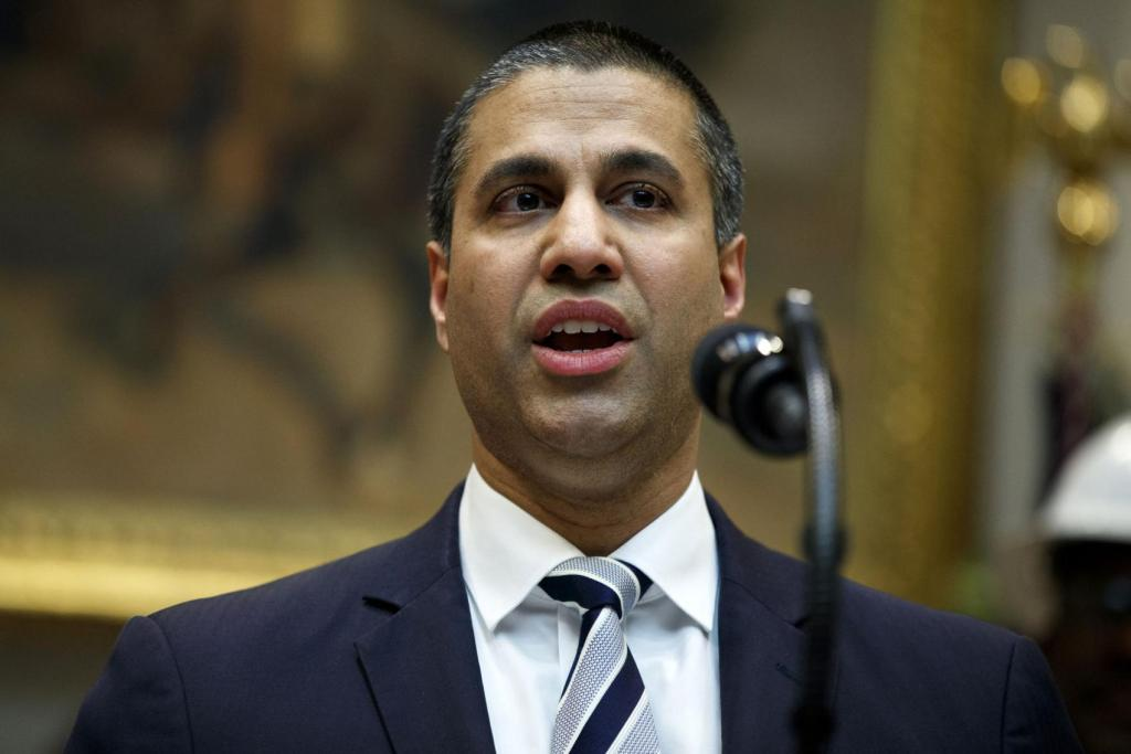 Federal Communications Commission Chairman Ajit Pai  Evan Vucci | AP file photo