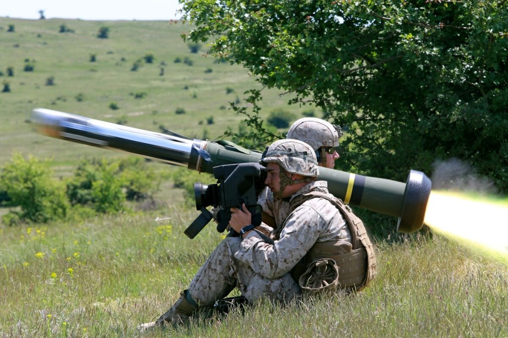 U.S. Marines fire an FGM-148 Javelin at Babadag Training Area, Romania. (Staff Sgt. Jessica Smith/U.S. Marine Corps)