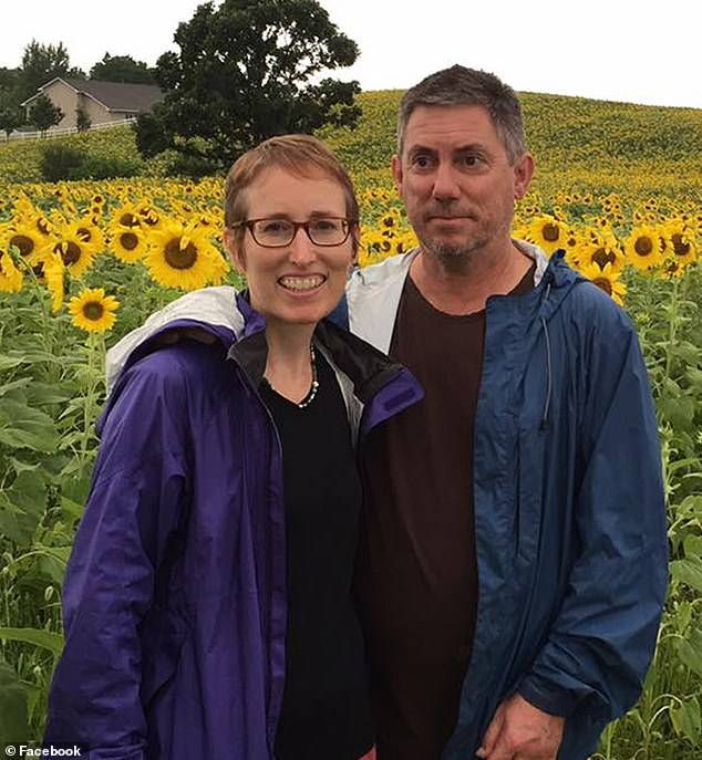 Dr. Beth Potter, 52, and husband Robin Carre, 57,