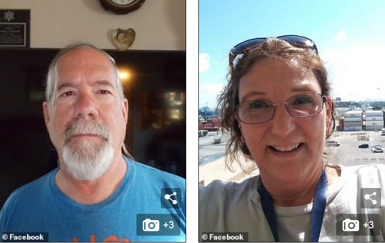 Illinois man Patrick Jesernik, 54 (left), shot his wife, Cheryl Schriefer, 59 (right),