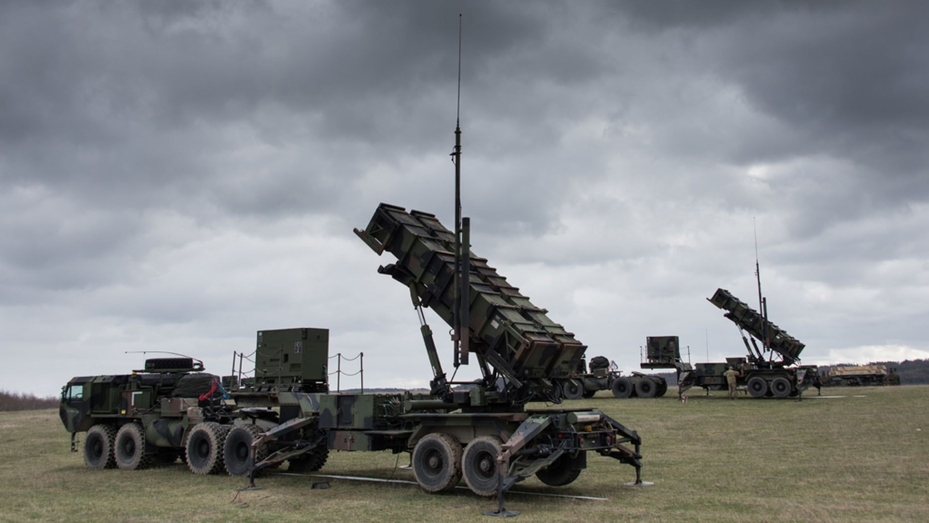 U.S. Soldiers with 5th Battalion, 7th Air Defense Artillery Regiment, 10th Army Air & Missile Defense Command install and check MIM-104