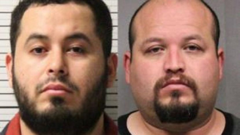 Federal inmates Jose Rodriguez and Raul Guzman were arrested by Border Patrol agents Wednesday following an escape from a Colorado prison.