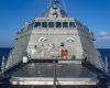 The Independence-variant littoral combat ship USS Montgomery (LCS 8) conducts routine operations near the Fiery Reef in the South China Sea.