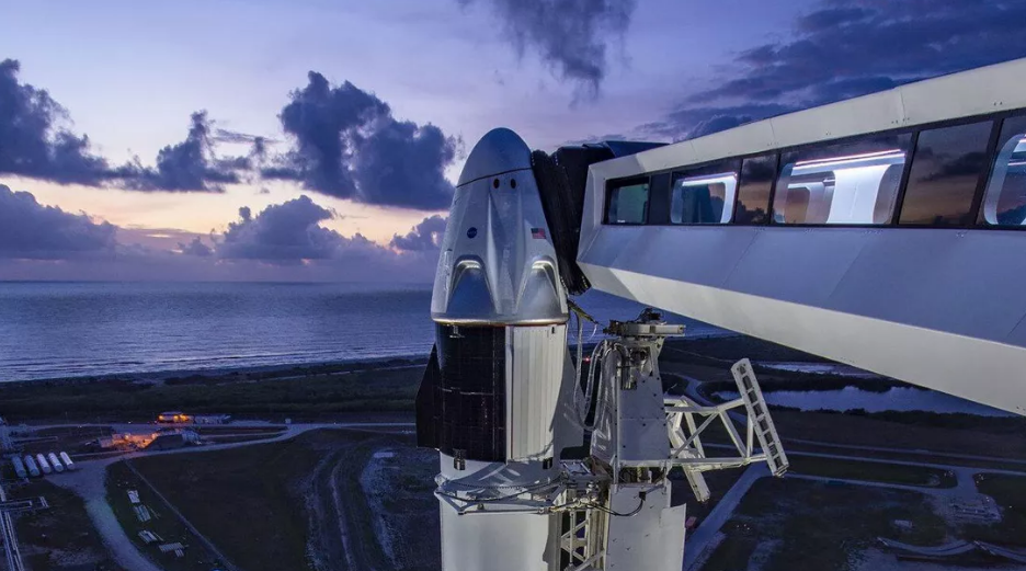 The weather did not cooperate for SpaceX and NASA's first crewed flight.