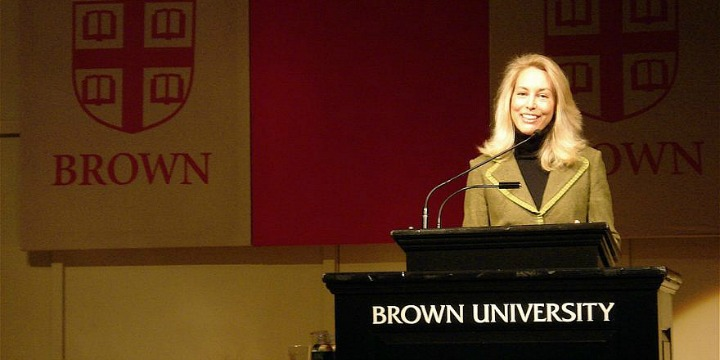 Valerie Plame speaking at Brown University in Providence, Rhode Island, Dec. 4, 2007.