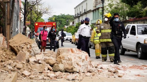 Oaxaca state was the worst affected by the quake.