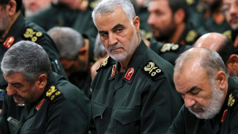 Revolutionary Guard Gen. Qassem Soleimani, center, attends a meeting in Tehran, Iran, in September 2016.