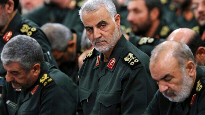 Revolutionary Guard Gen. Qassem Soleimani, center, attends a meeting in Tehran, Iran, in September 2016.