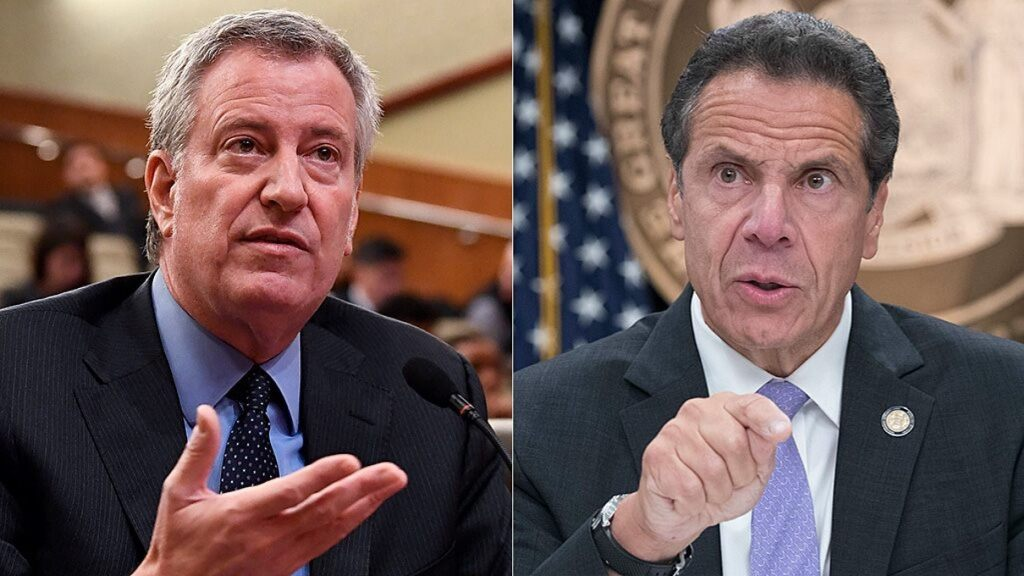 New York City Mayor Bill de Blasio and New York Gov. Andrew Cuomo were sued by Catholic priests and Orthodox Jewish congregants for using coronavirus restrictions to discriminate against people of faith.