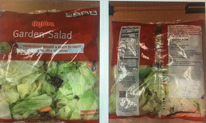 Hy-Vee Farms Garden Salad Mix recalled from the stores after an outbreak of diarrhea-causing microscopic parasite.