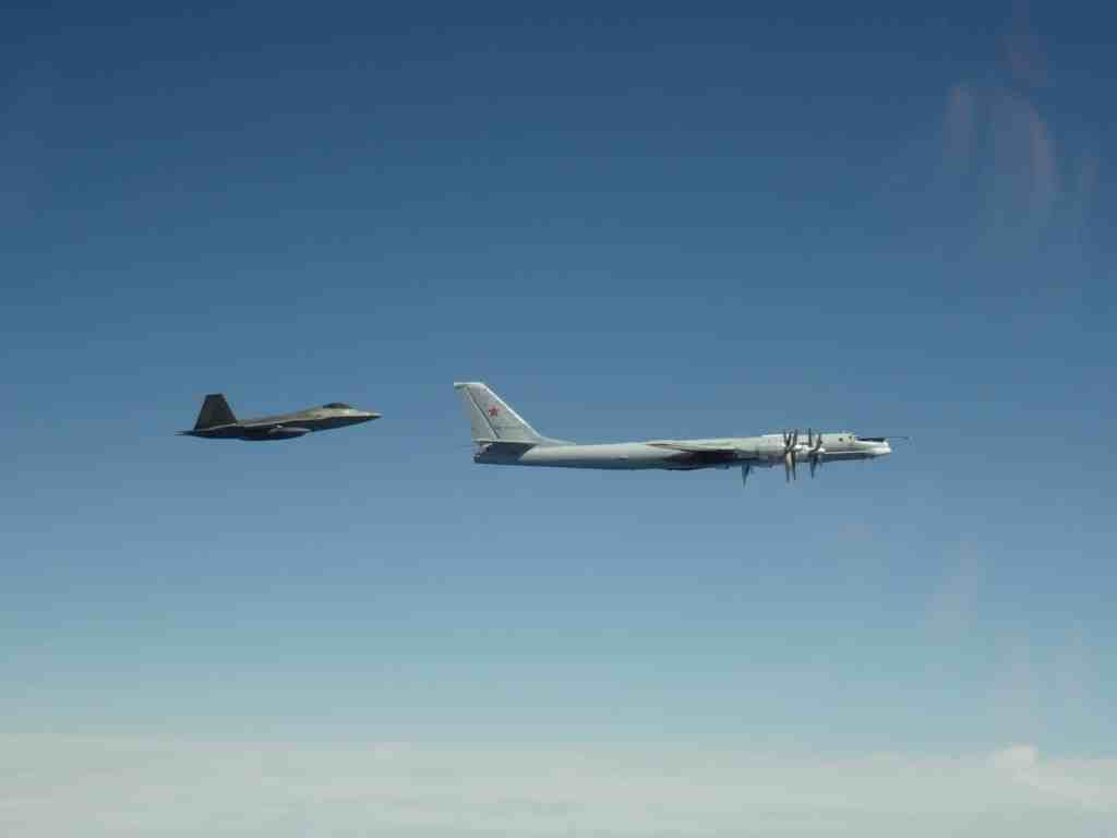 NORAD intercepts Russian bombers in the Alaskan Air Defense Identification Zone on June 10th, 2020. (NORAD/Released)