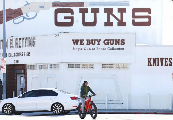 The Martin B. Retting, Inc. gun store in Culver City, L.A. County, California / Getty Images