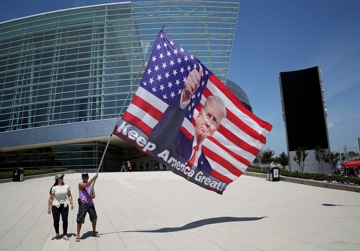 Supporters of President Donald Trump outside Tulsa's BOK Center / Getty Images