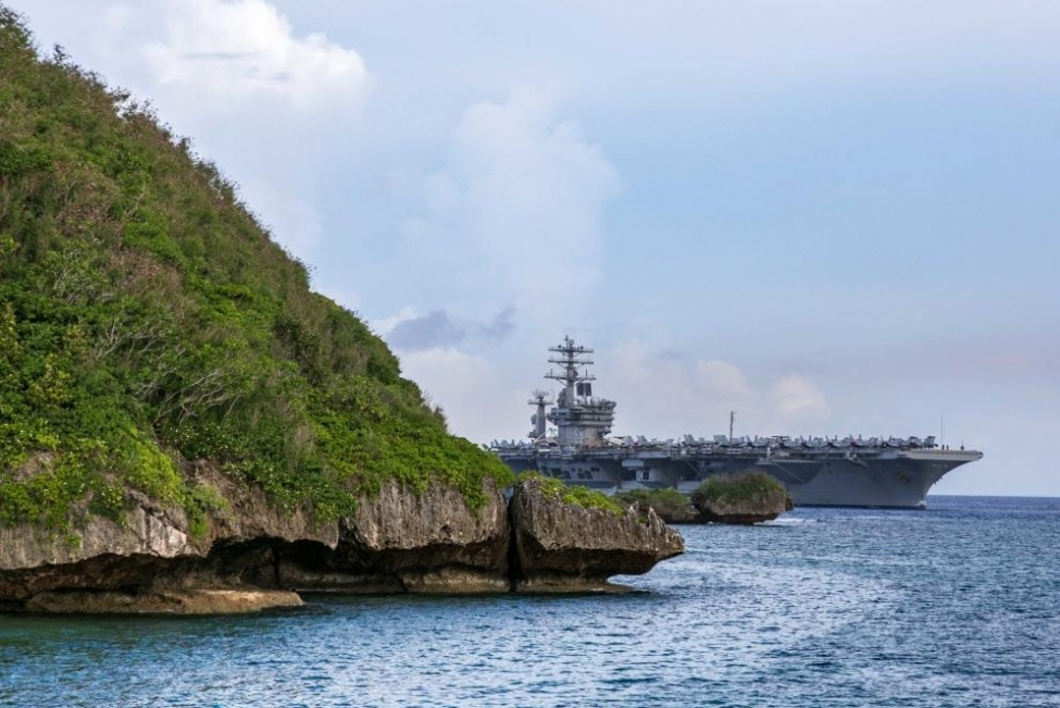 The Carrier Strike Group led by the aircraft carrier USS Nimitz arrived at Naval Base Guam on Wednesday for a  Safe Haven Liberty port visit.