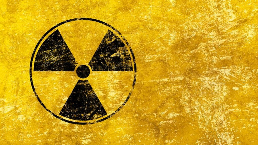 Black radioactive hazard warning sign. (iStock/BreakingTheWalls