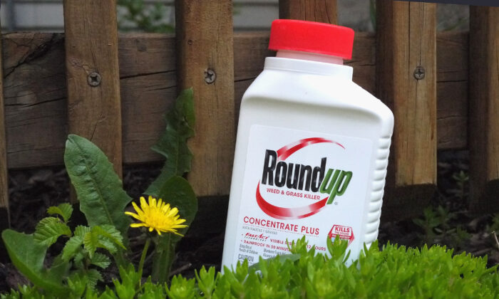 Roundup weed killer is shown in Chicago, Ill., on May 14, 2019.
