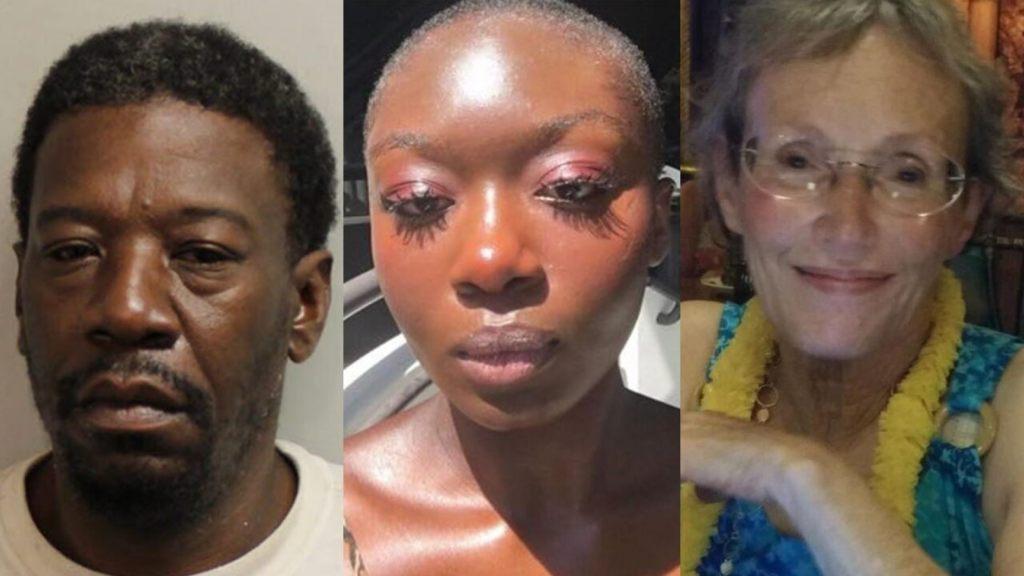 Mug shot for Aaron Glee, 49; Oluwatoyin Salau, 19, Victoria Sims, 75.