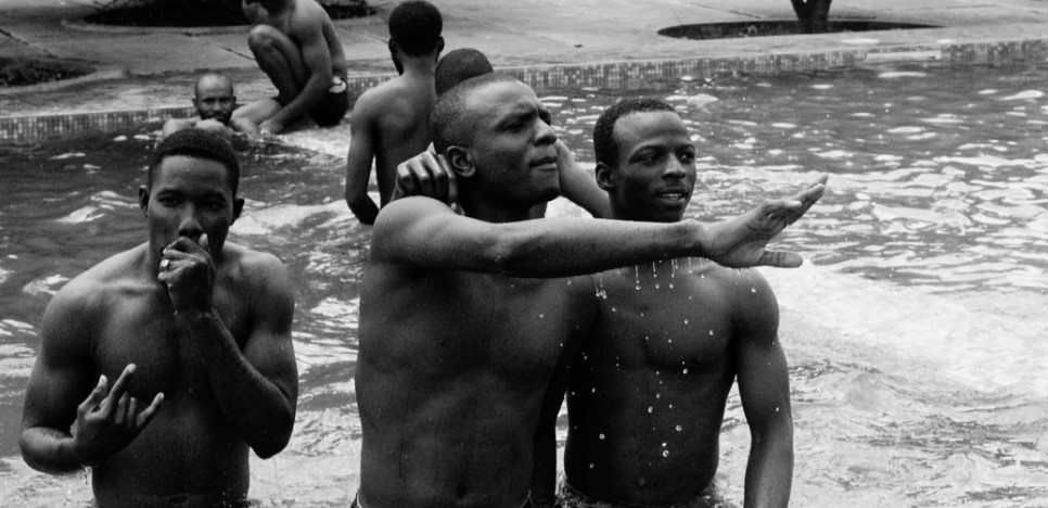 Africans bathing in a pool in Benin. Photo: Muhammadtaha Ibrahim Ma'aji